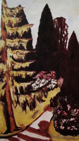 Eyckenstein_Max-Beckmann-Schilderij-park-1943