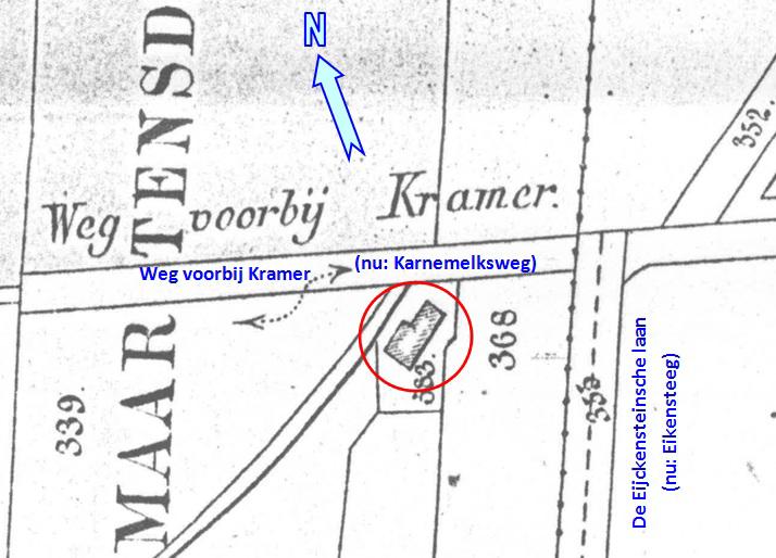 Kaart-1876-Huisje-Karnemelksweg
