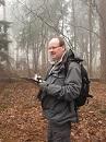Gert Prins tijdens broedvogelonderzoek - nieuwsbrief