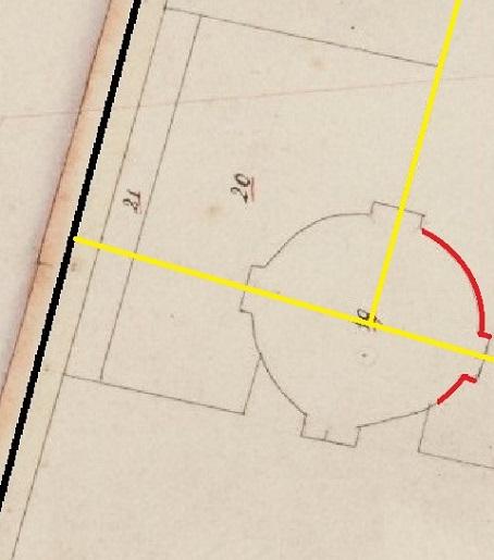 Tempel van Pan oude kaart overblijfsel 454