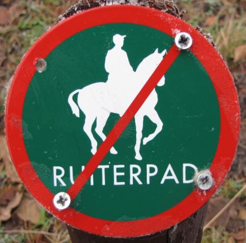 Paarden niet toegestaan 500