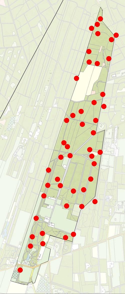 Broedvogelonderzoek kaart glanskop - 500
