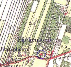 Park militaire kaart 1910